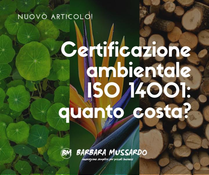 Certificazione ambientale Iso 14001: quanto costa?