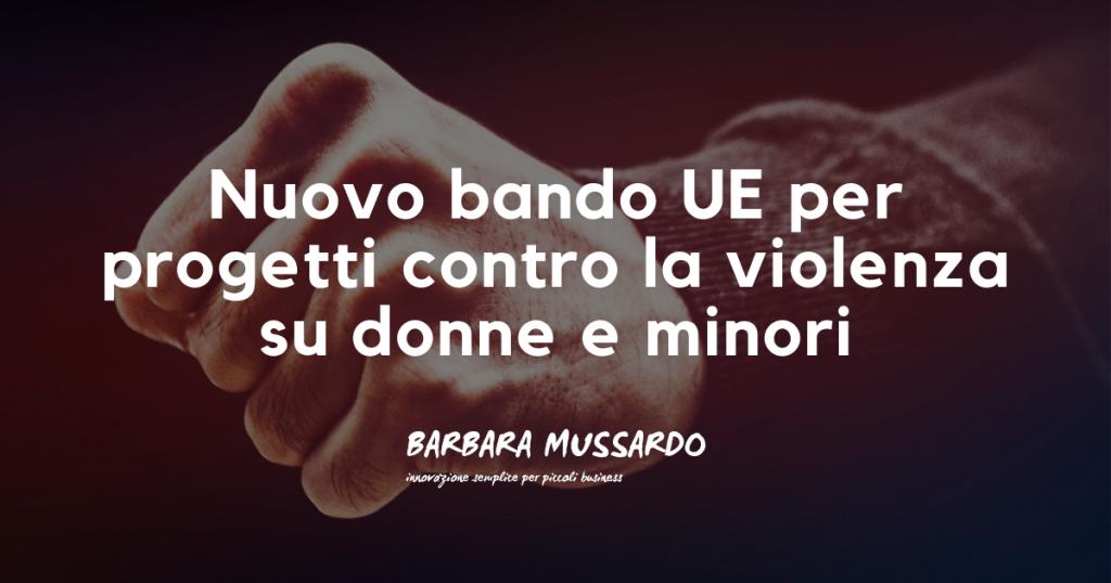 bando UE donne violenza minori