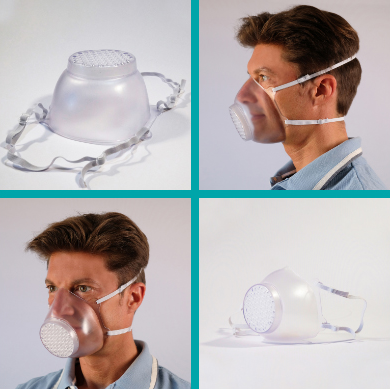 roncato, mascherina trasparente